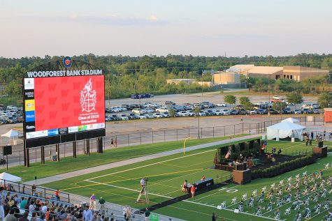 Woodforest Bank Stadium presents the evening TWHS ceremony. Woodforest will also the be site for Tomball and Magnolia ceremonies after the CISD  high schools are completed.