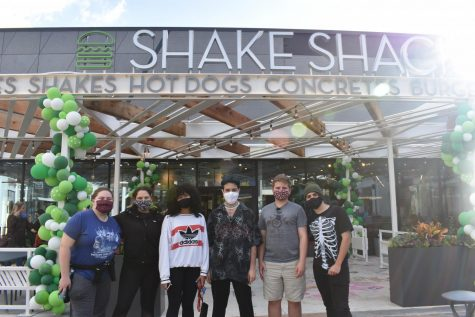 Members of the TWHS art club visited Shake Shack on opening day and were invited to contribute art.