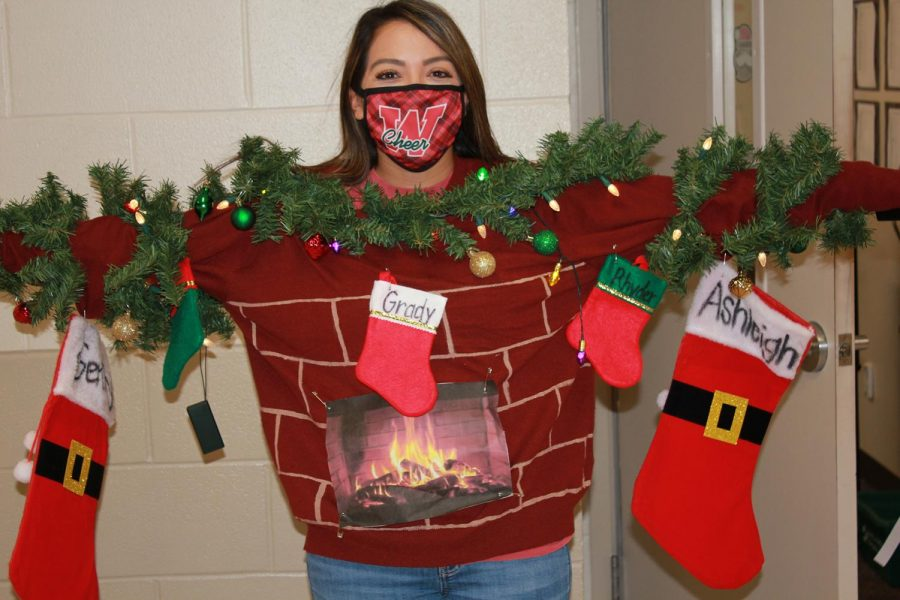 English teacher/Cheer coach Ashleigh Scott warms up to the holidays.