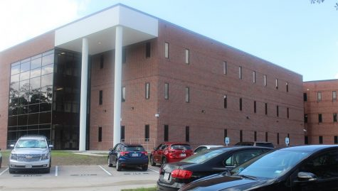 The new wing matches the style and architecture of the existing structure.  It is at the eastern end of the building.