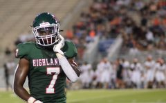 Senior Martrell Harris comes off the field against Langham Creek last week at home.  The Woodlands won 17-7.