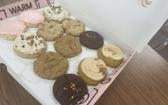 A dozen Crumbl cookies from opening day in Magnolia on Sept. 3.  Their app makes ordering for pick-up easy and avoids the lines.